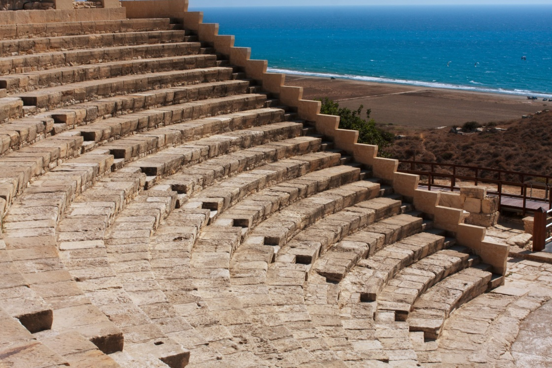'Ancient theatre at Kourion, Cyprus' - Zypern